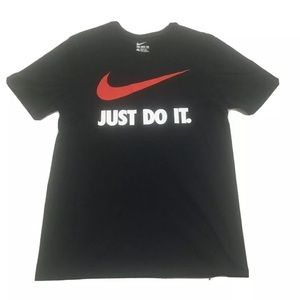 Nike Just Do It Swoosh Logo Graphic T Shirt Large
